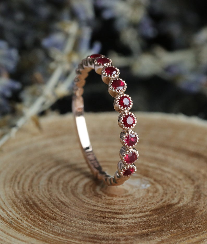 Ruby wedding ring