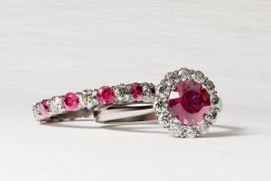 Ruby wedding and engagement rings