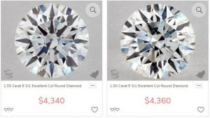 si diamonds round shape
