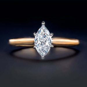 si marquise cut engagement ring