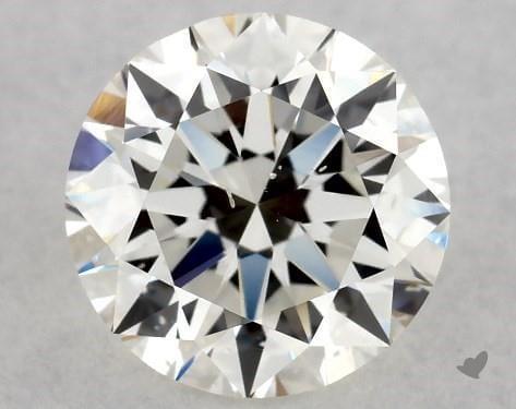 si1 round diamond closeup