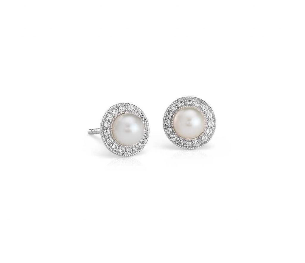 Simple earrings for wedding day