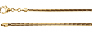 Snake gold chain