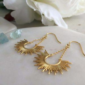 Vermeil earrings gold