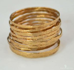 Vermeil gold stacking rings