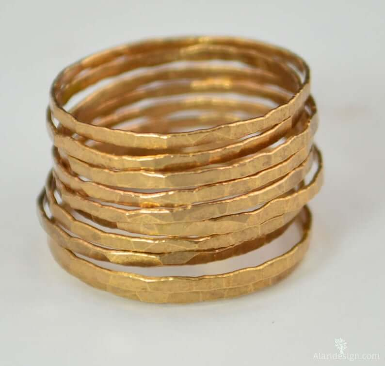 vermeil-gold-stacking-rings-etsy