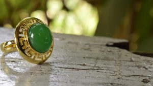Jade Ring is a Dark Green