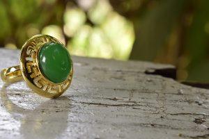 Jade Ring is a Dark Green