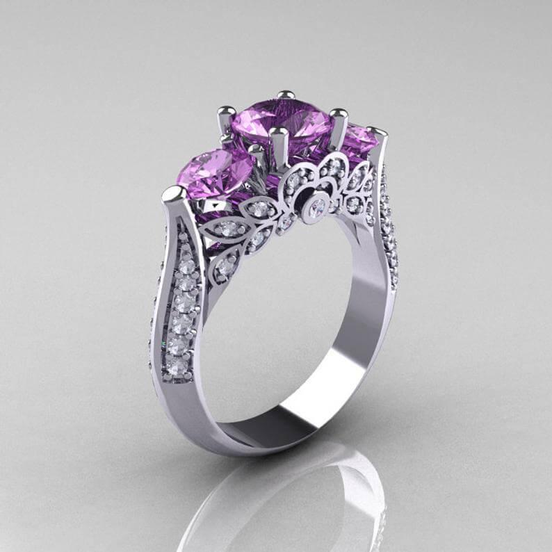 Amethyst ring elaborate