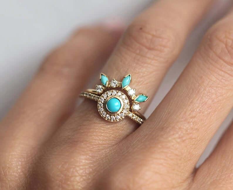 Bohemian turquoise ring