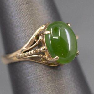 Jade antique ring