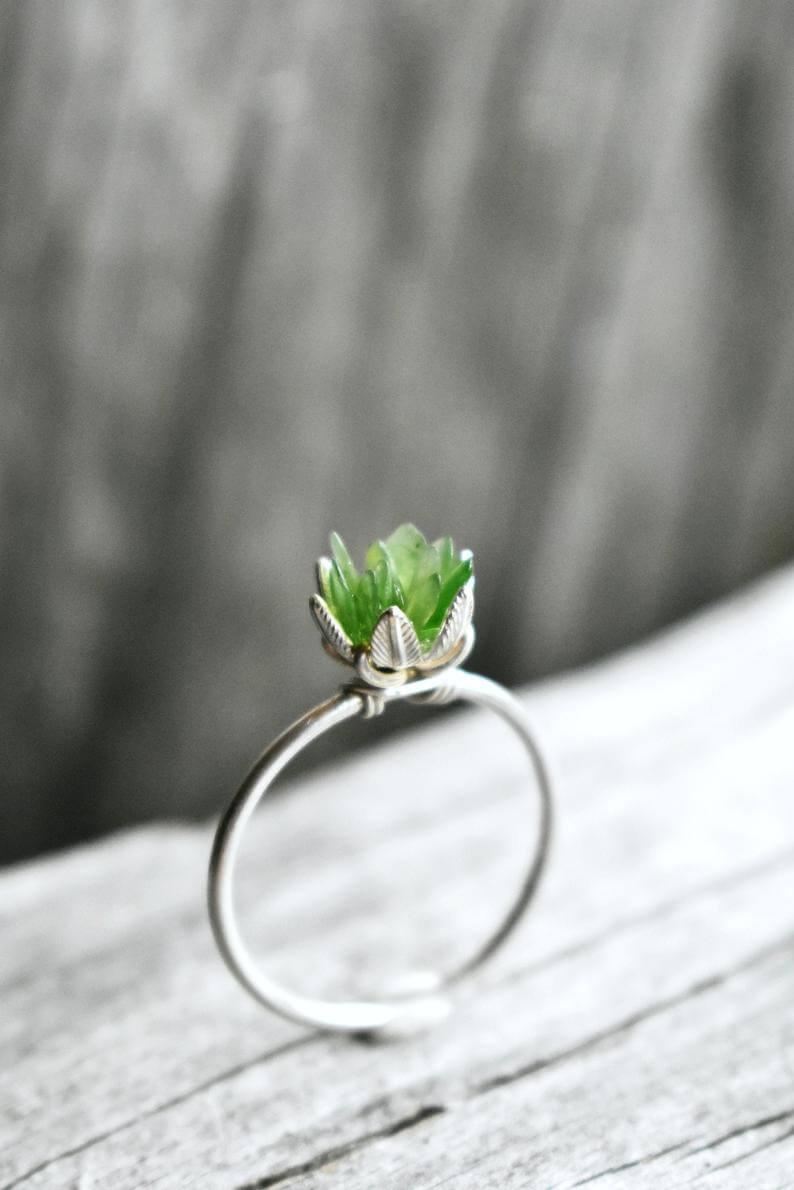 Rustic jade ring