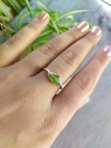 Simple bohemian Peridot ring