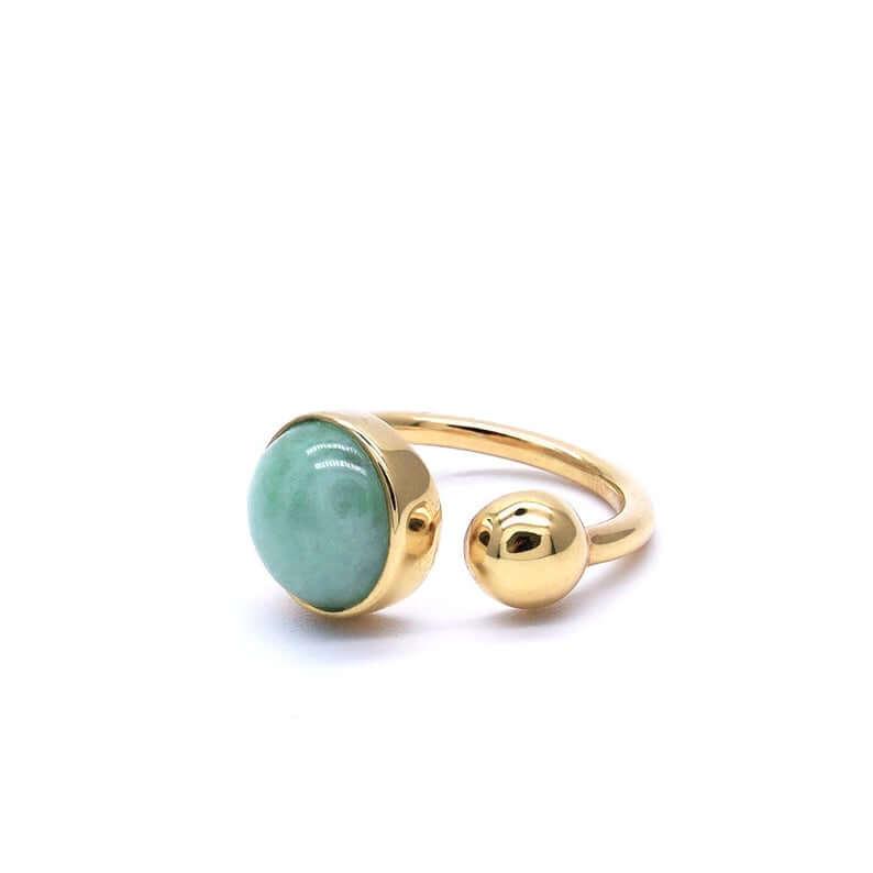 Unique modern jade ring