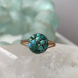 Unique Victorian turquoise ring