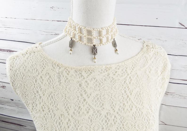 Victorian Bridal Choker Necklace
