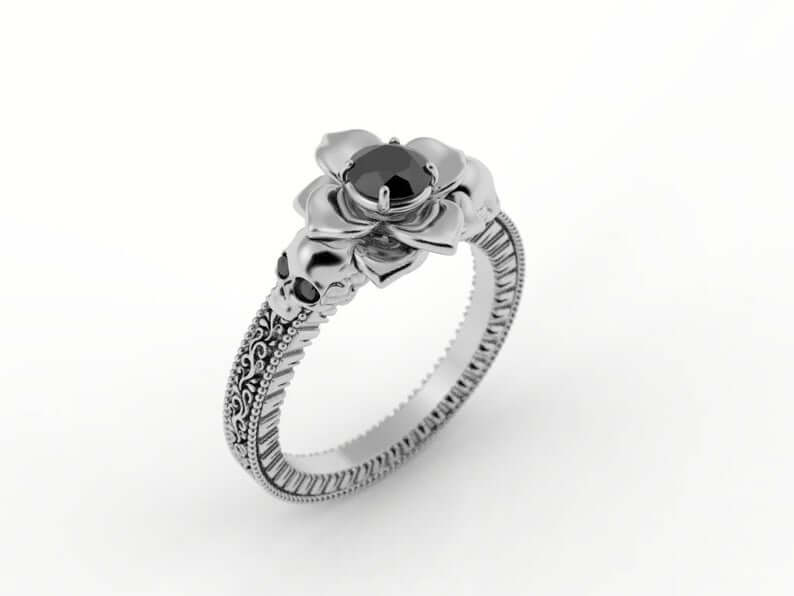 Beautiful skull ring