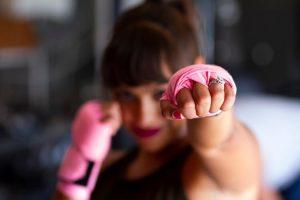 busy girl boxing basket setting