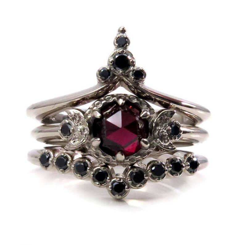 Celtic goth ring