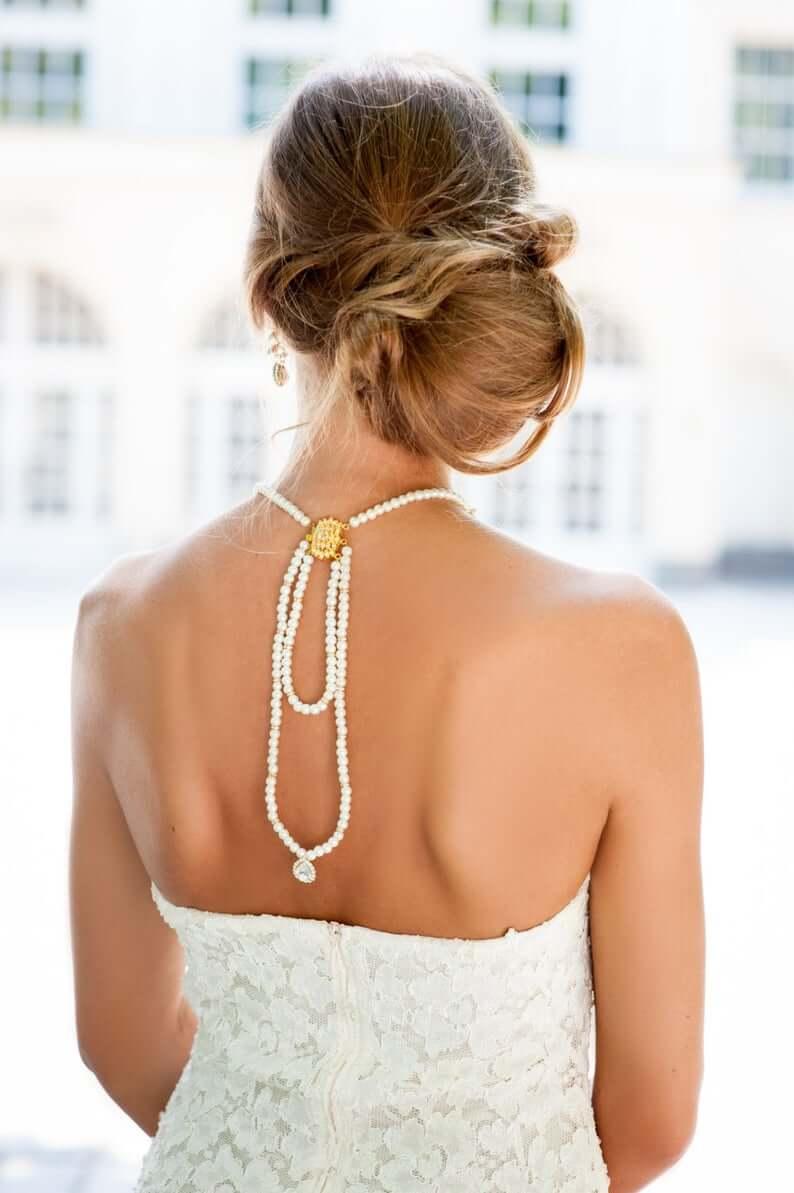 Pearl Bridal Choker Necklace