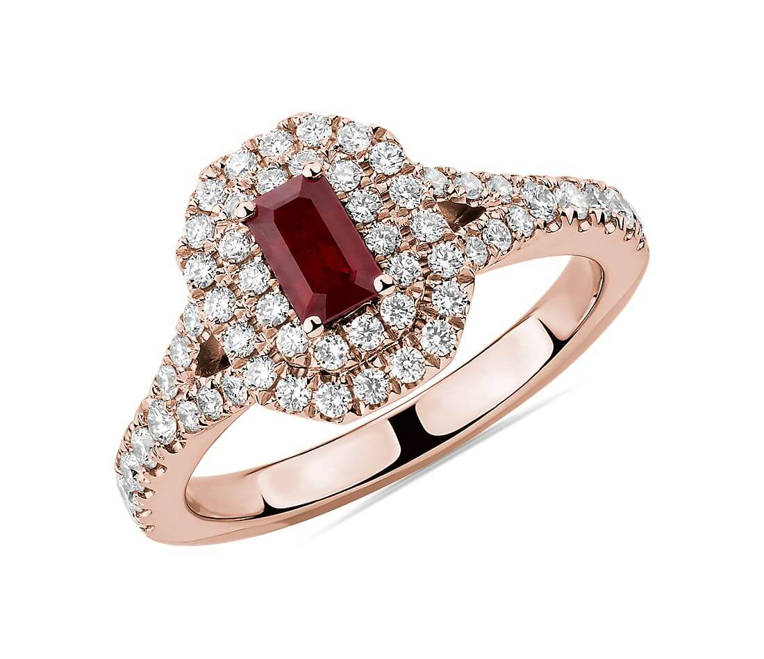 Classic ruby and diamond ring