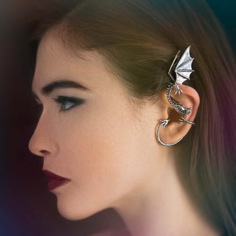 Ear hooks dragons