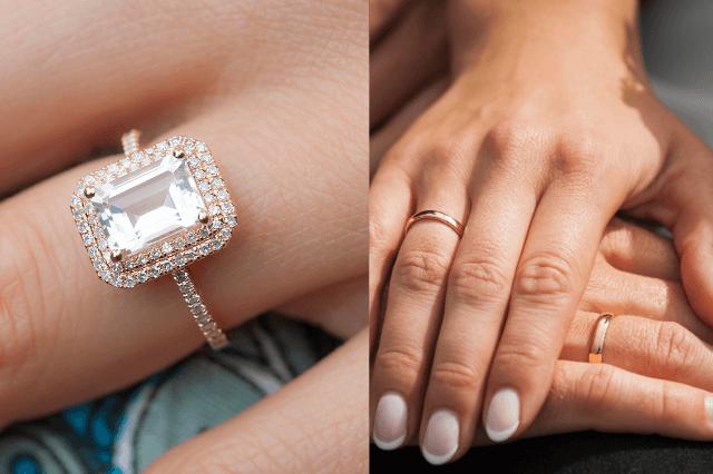 Engagement vs wedding rings