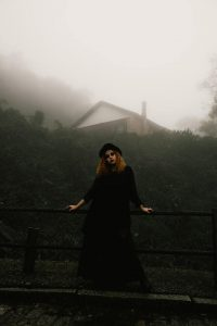 Goth style girl