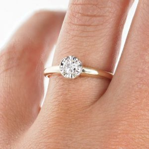 Illusion engagement ring setting