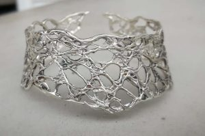 Intricate sterling silver cuff