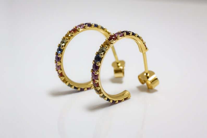 J hoop-earrings