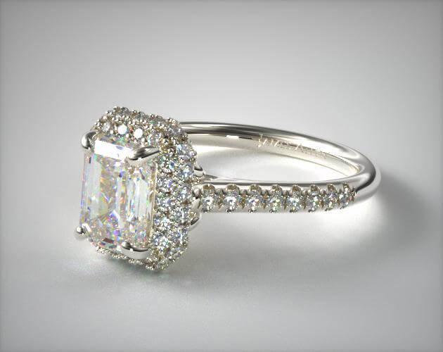 Large engagement ring stone