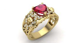 Luxury skull ring