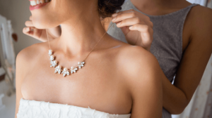 Necklaces to wear with strapless dresses