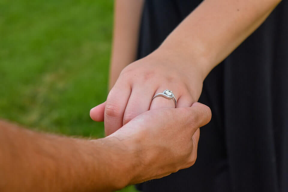 Pave vs channel engagement ring settings
