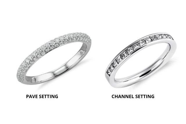 Pave vs channel setting
