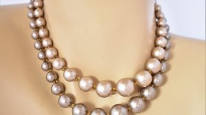 Pearl choker necklace lengths