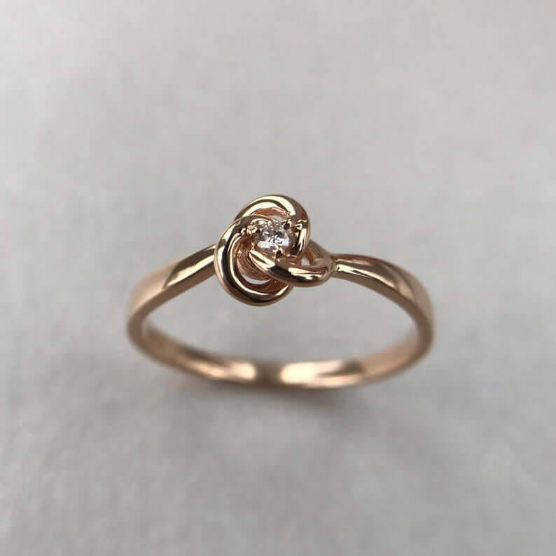 Promise ring with knot