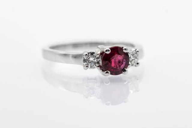 ruby-diamond ring
