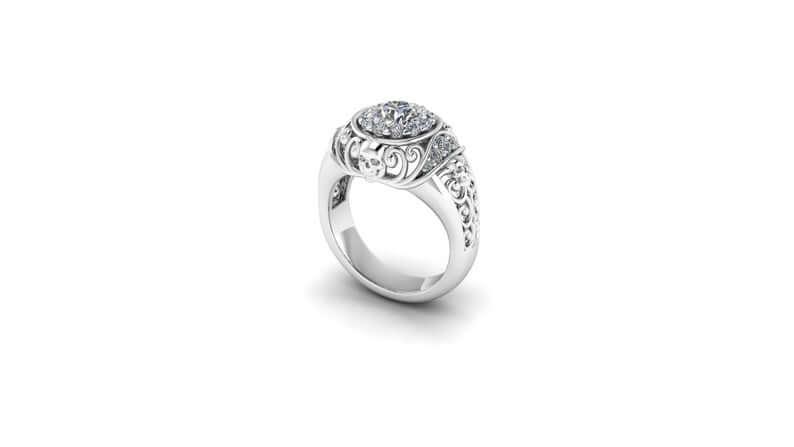 Side skull ring