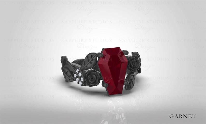 Stylish goth ring
