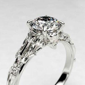 Victorian style skull ring