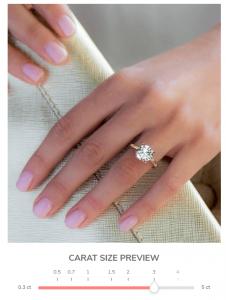 3 carat diamond size