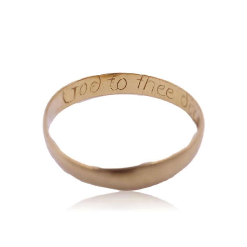 Antique poesy ring