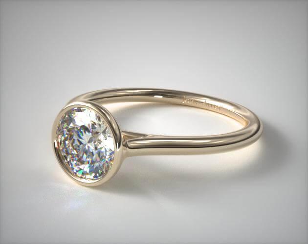 Bezel setting engagement ring
