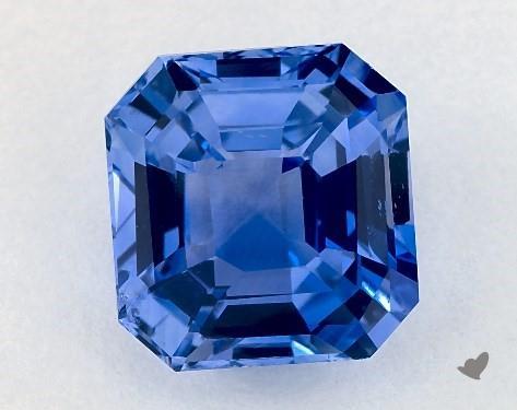 Asscher cut blue sapphire