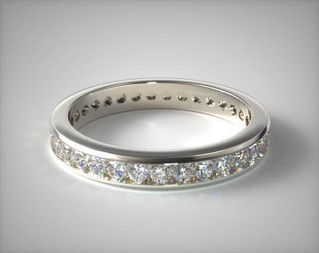 Channel setting wedding ring