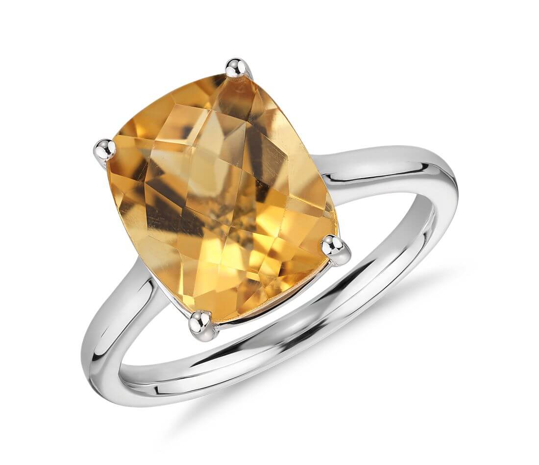 Citrine gemstone engagement ring