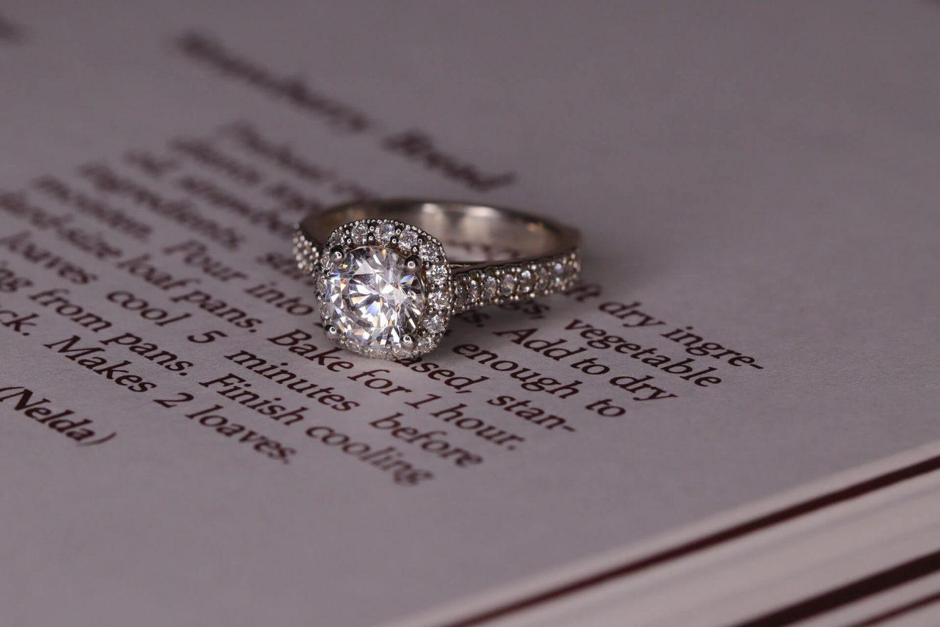 D color diamond engagement ring