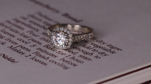D color diamond engagement ring